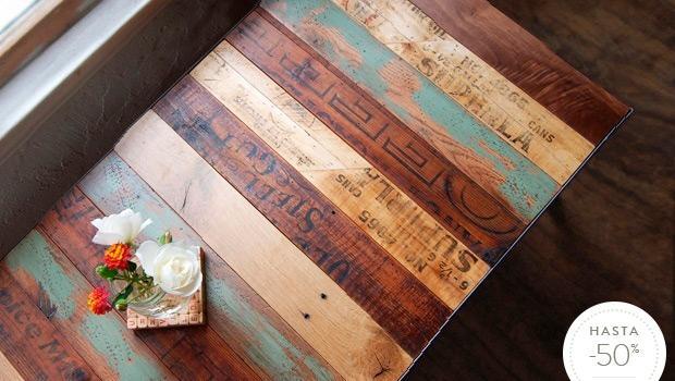 Piezas en madera reciclada