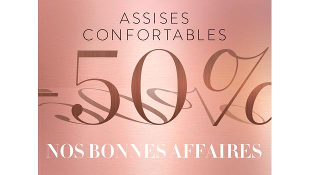 Assises confortables