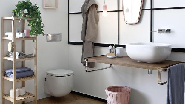 Une salle de bains contempo