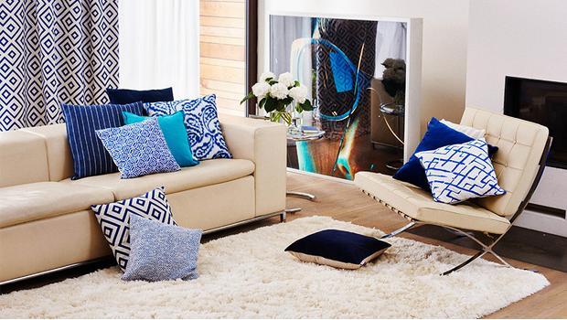 Trend-Duo: Vorhang & Kissen