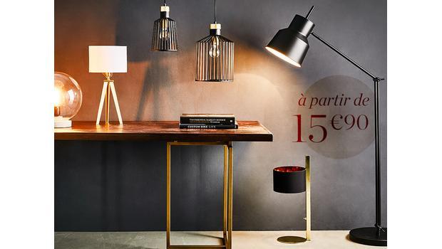 Luminaires dès 15,90€