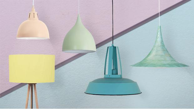 Lampen in Pastell