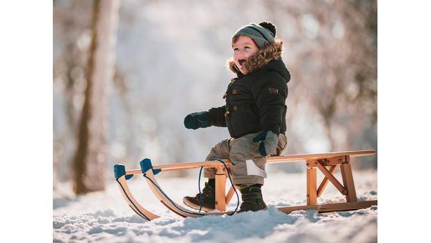 Plaisir d'hiver : la luge