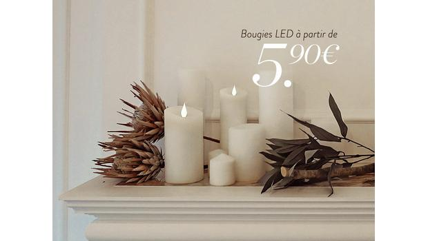 Bougies LED tendances