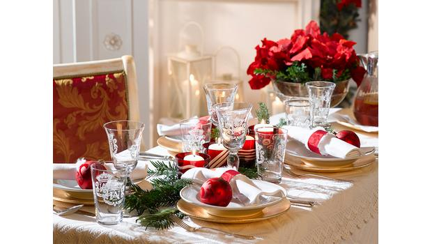 Une table de Noël glamour