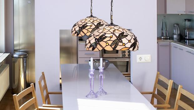 Tiffany luz luminaires art nouveau westwing