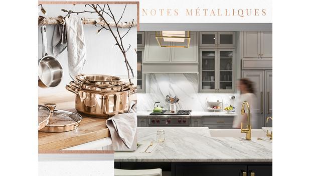 Une cuisine métallisée