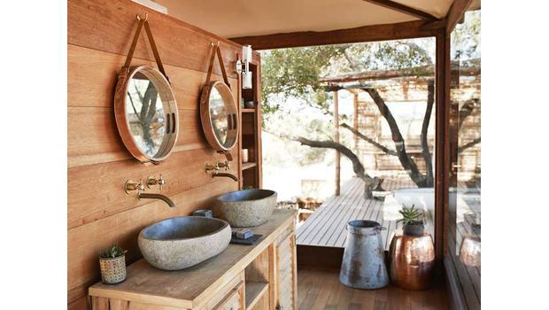 An exotic bathroom