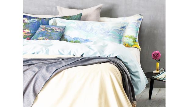 Linge de lit d'artiste