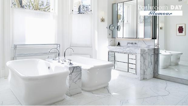 Une salle de bains glamour