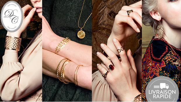 bijoux dear charlotte boucle bracelet pendentif colier or vermeil