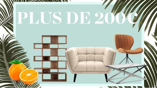 200€ déco mobilier tech linge tapis extérieur intérieur