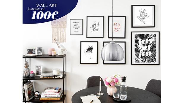 Du Wall art à - de 100€ !