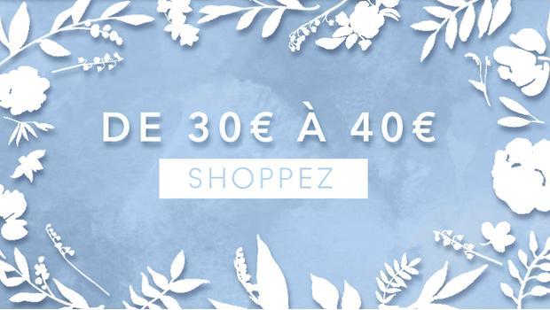De 30 à 40 euros