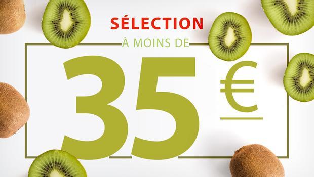 À moins de 35 euros