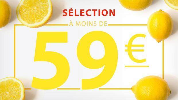À moins de 59 euros