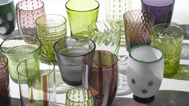 vaisselle verre colorée zafferano