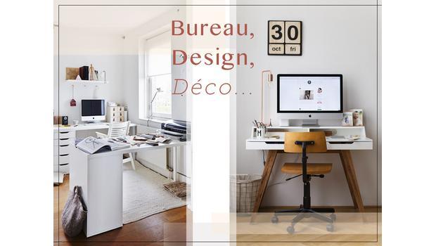 Bureau, design, déco
