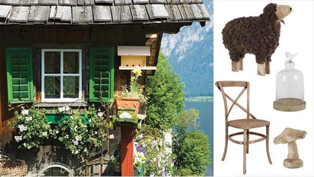 chalet montagne décoration meuble table chaise