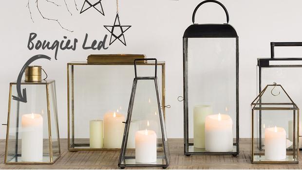 bougies, LED, décorations