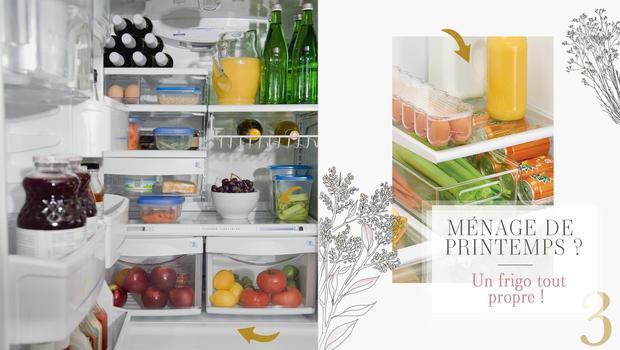 Un frigo propre et rangé