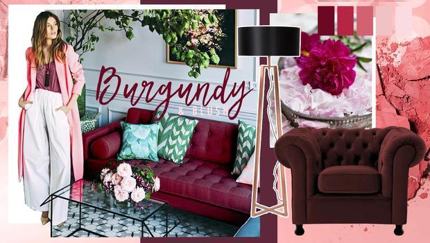 Trend-alert : Burgundy & Blush