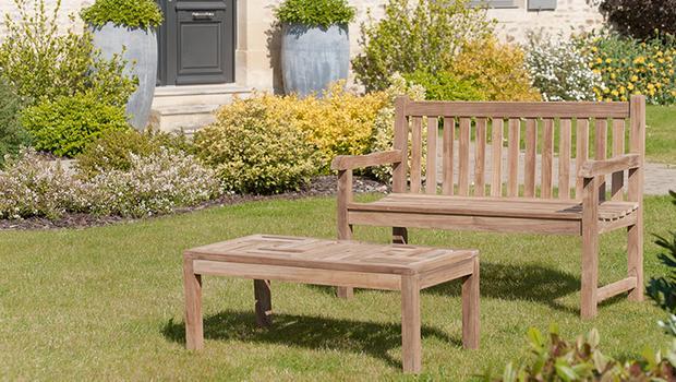 outdoor salon jardin teck