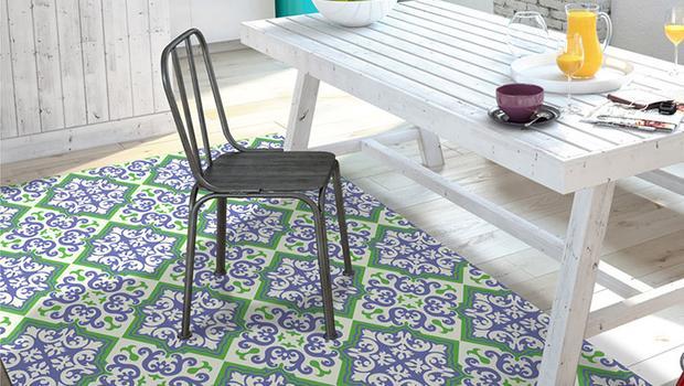 tapis ambiance colorés