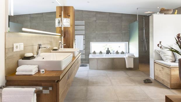 Une salle de bains au masculin