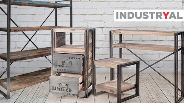 industryal bois recyclé mobilier