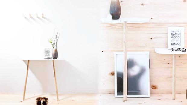 Mobilier minimaliste en bois
