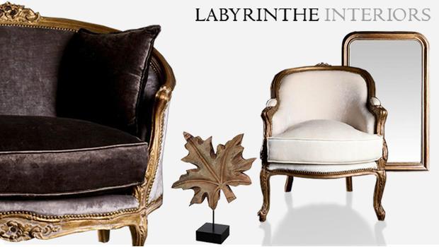 fauteuil, miroir, lustre, lampe, lévrier, console