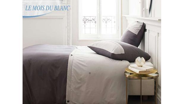 Linge de lit - Mois du blanc