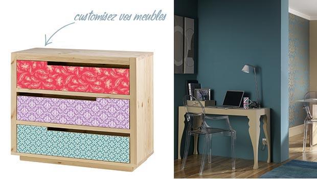 meuble en bois peint