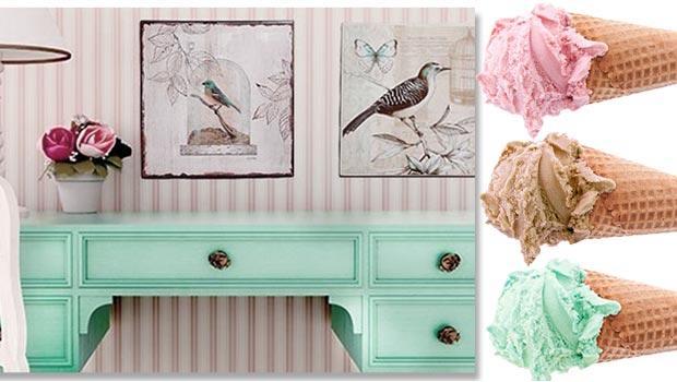 Mint / aqua & rose pastel European Heritage