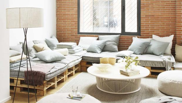 Canapés et bancs sur palettes