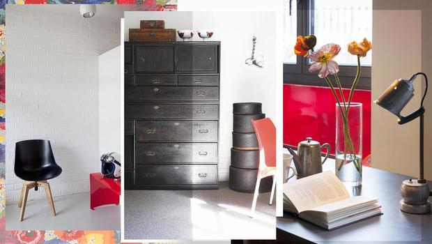 Rouge coquelicot et noir