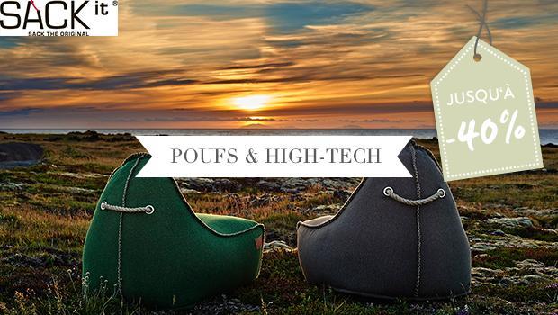 fauteuils poufs enceintes bluetooth sack it