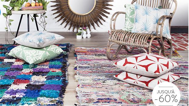 tapis boucharouette tissus recyclés ethnique