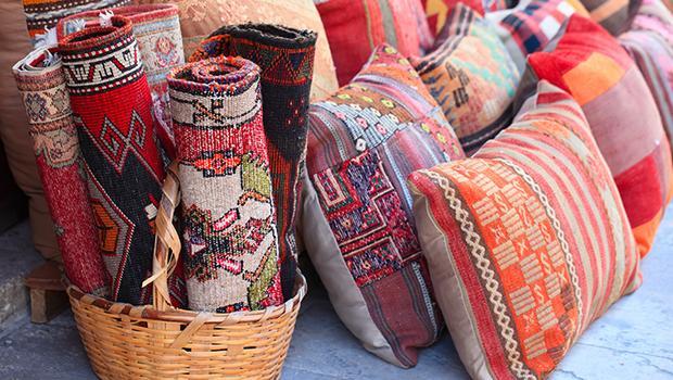 tapis coussins