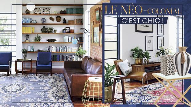 Un salon néo-colonial