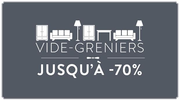 Vide-greniers jusqu'à -70%