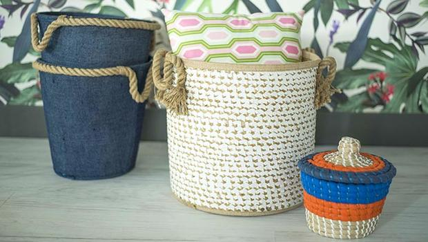 Hand made natural baskets