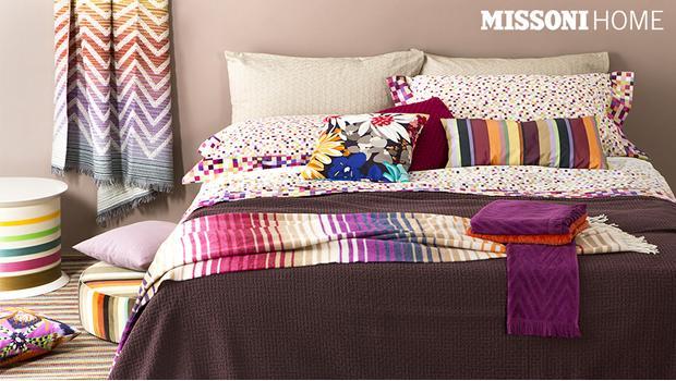 Missoni home letto spugne tappeti cuscini westwing