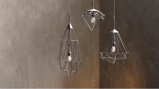 Globo lampadario da soffitto in metallo cromato con