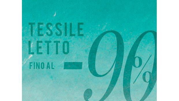 Tessile Letto fino al 90%