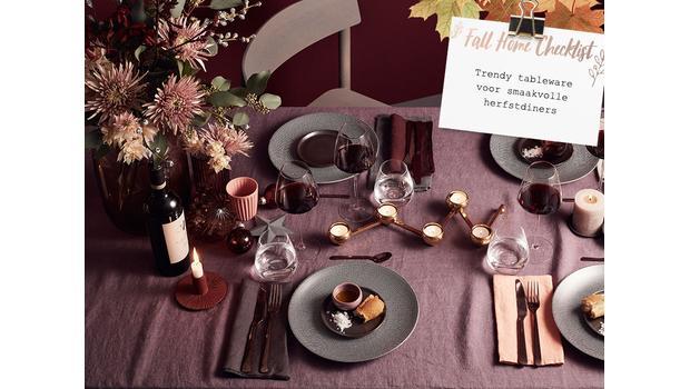 Herfst-check: trendy tableware