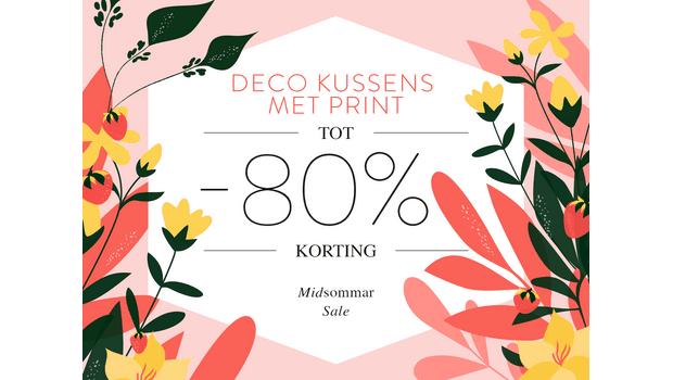 Deco kussens met print