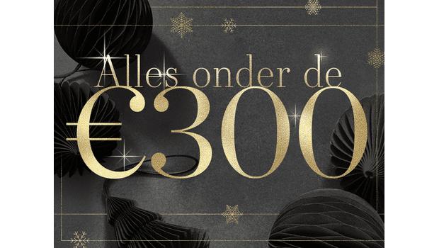 Alles onder de €300