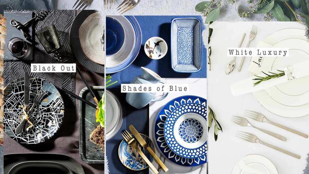 Eén tafel, drie stijlen